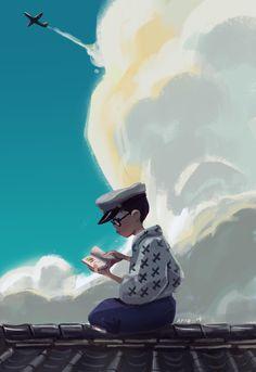 Art of Vince Aparo, The Wind Rises Hayao Miyazaki, Studio Ghibli Art, Studio Ghibli Movies, Dreamworks, Fan Art, Nausicaa, Le Vent Se Leve, Wind Rises, Rise Art