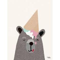 Michelle Carlslund plakat, I love icecream - 30 x 40 cm