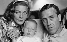 Lauren Bacall and second husband Jason Robards with their son Sam