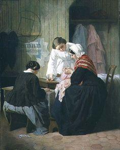 ✿Needlework✿ Trayer, Jules (1824-1908) - Ladies Sewing