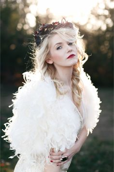 White feather bolero