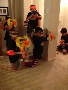 Nerf gun party - i want to do something like this with the kids around the house.....I think they would all love it, especially the boys, Brenton and Hunter!! Sharrah, we need more nerf guns! LOL