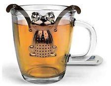 Kikkerland Frog Stainless Steel Tea Infuser Drip Tray Loose Leaf Brew Strainer