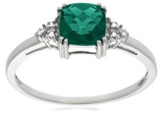 10k White or Yellow Gold May Birthstone Created Emerald and Diamond Ring Amazon Curated Collection, http://www.amazon.com/dp/B000V1WY8E/ref=cm_sw_r_pi_dp_bGP5qb1N9XR8E