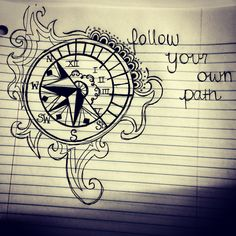 Sketch, clock, watch, compass