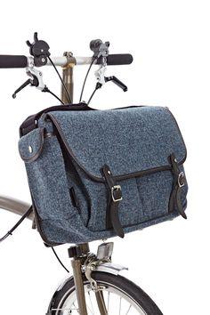 game bag tweed blue