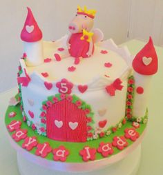 Peppa pig princess castle cake