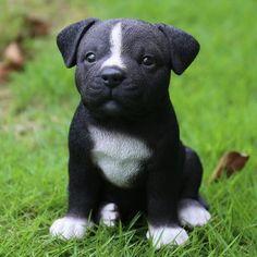 Hi-Line Gift Ltd. Sitting Staffordshire Pitbull Puppy Statue