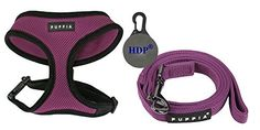 Puppia Dog Soft Mesh Harness and a Leash COMBO ColorPurple SizeSmall * Details can be found by clicking on the image.