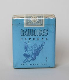 In my smoking days I never much cared for the flavour of Virginia tobacco, preferring the rough richness of the French. Disque Bleu were available in England, but you generally had to bring the plain blue Gauloises, in their no-nonsense soft pack, back from France with you.