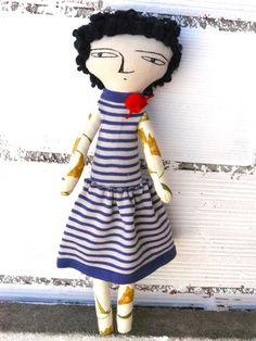 Muñeca Karine de algodón / 48 cm / OOAK por AntonAntonThings