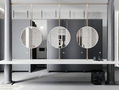 Triple hanging mirrors