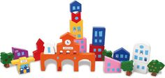 Vilac Puzzle City Bloc is designed by French- Japanese architect, Guen Bertheau Suzuki. This balancing / stacking game comes with 20 wooden blocks.