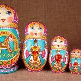 """matryoshka Museum Series, """"Barynki"""""""
