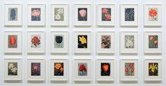 Sebastiaan Bremer - Bloemen Series - Ieder 13x18cm, 21 delen Beschilderde pagina's van bloemen boek