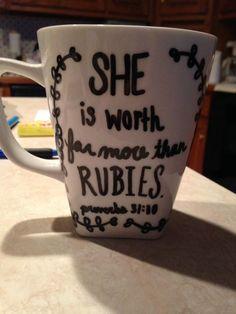 My DIY sharpie mug with Bible verse