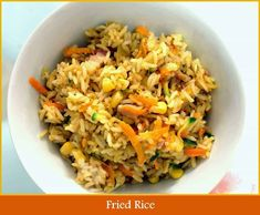 Yummy, easy fried rice so many options. Extra kid friendly, super yummy and way too easy! They'll eat it, every last mouthful. You'll never buy it again! Healthy Family Dinners, Easy Weeknight Dinners, Healthy Meals For Kids, Family Meals, Kids Meals, Easy Meals, Healthy Recipes, Family Recipes, Easy Recipes