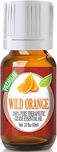 100% Pure Therapeutic Grade Wild Orange Essential Oil  Comes in 10ml amber glass essential oil bottle. European Dropper Cap included.  What sets Healing Solutions Essential Oils apart is superior ...