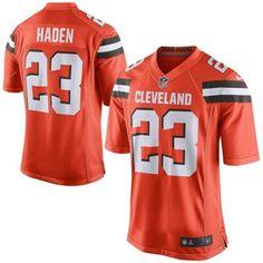 d7272042a17 Men s Cleveland Browns Joe Haden Nike Orange Game Jersey