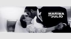 O casal Marina Gandolfo e Júlio Mazzoni Tortorello se conheceu na faculdade de engenharia e eles não se separaram mais. Relembre o casamento deles no vídeo feito por Vinicius Credidio!