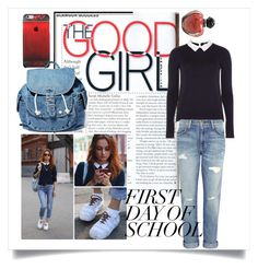 """""""first day of school"""" by mildredsunrise on Polyvore featuring Dorothy Perkins, Current/Elliott, Dance & Marvel and Christian Dior"""