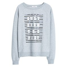 Buy Mango Printed Message Sweatshirt Online at johnlewis.com