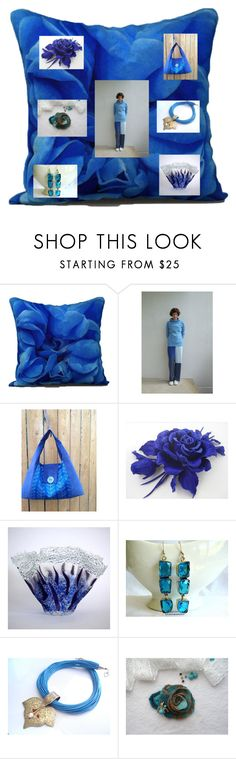 """Can't Have Too Much Blue"" by rocky-springs-vintage ❤ liked on Polyvore"