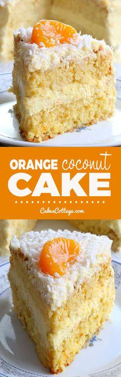Coconut Recipes, Baking Recipes, Coconut Cakes, Lemon Cakes, Orange Recipes, Sweet Recipes, Cake Mix Recipes, Cake Recipes, Essen
