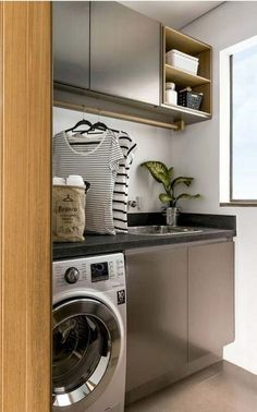 Browse laundry room ideas and decor inspiration for small spaces. Custom laundry rooms and closets, including utility room organization & storage ideas. Small Utility Room, Small Laundry Rooms, Laundry Room Design, Ikea Laundry, Laundry Room Remodel, Laundry Room Cabinets, Laundry Room Organization, Diy Cabinets, Modern Small Bathrooms