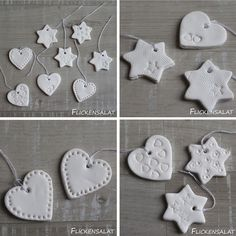Flickensalat Fimo Anhänger Mehr The post Flickensalat appeared first on Beton Diy. Christmas Clay, Christmas Ornaments To Make, How To Make Ornaments, Diy Christmas Gifts, Salt Dough Christmas Decorations, Handmade Christmas Decorations, Handmade Ornaments, Clay Ornaments, Ornament Crafts