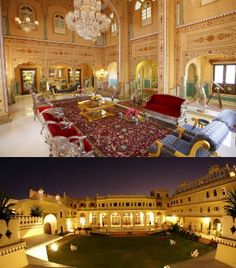– This is the costliest hotel in Asia at a daily rate of more than $43,000. It was built in 1727 and is branded a grand heritage hotel. It was previously The Maharaja's Pavilion as he once resided there. You can even find a museum celebrating India's reach heritage in the presidential suite.Click here for more pictures and booking!