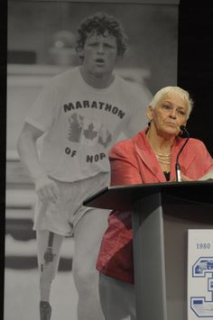 Terry's mother Betty Fox reflects on the legacy of her son. My Hero, Haha, Sons, Canada, Baseball Cards, Ha Ha, My Son, Boys, Children