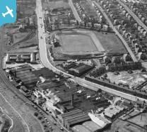 Stewarts and Lloyds Ltd. Works, Main Street and Albion Rovers Football Ground, C...