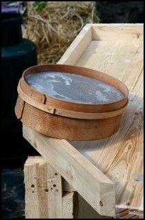 a chessel - a wooden mould for cheese. Thre are several old fashioned English cheese making recipes here including one go double cream cream cheese