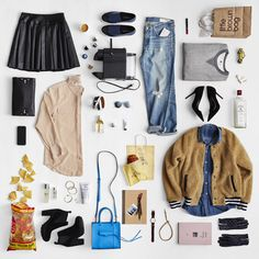 kira corbin flat lay photo fashion