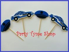 12 Police Car and Police Hat Cupcake Toppers . by partytymeshop, $11.97