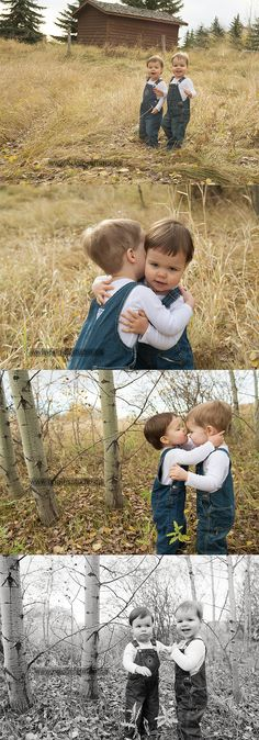 Twin photos - two two year olds - so sweet @Rebecca Roof i think we could pull this off in 2 years!