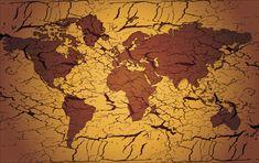 Mapa do Mundo Estilo Papiro modelo 16