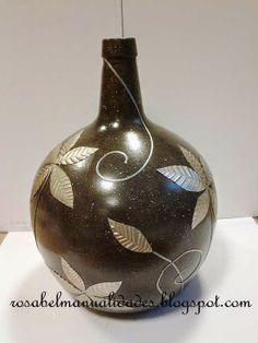 1000 images about botellas on pinterest wine bottles painted bottles and decoupage - Rosabel manualidades ...