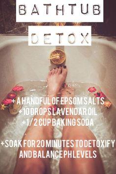 Try This: Best Bathtub Detox Experience You Will Ever Have | DIY Beauty Fashion                                                                                                                                                      More