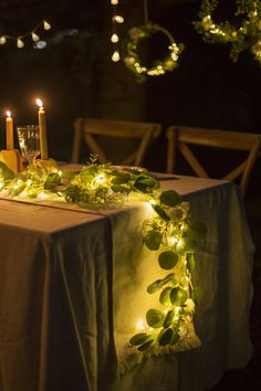 Eucalyptus Flower Runner with led Light - Ivory Handcrafted Ivory Flowers + Eucalyptus Leave Garland with LED Light – Ling's moment Wedding Aisle Decorations, Wedding Table Centerpieces, Wedding Flower Arrangements, Centerpiece Flowers, Floral Decorations, Lighted Centerpieces, Cheap Centerpiece Ideas, Long Table Decorations, Italian Centerpieces