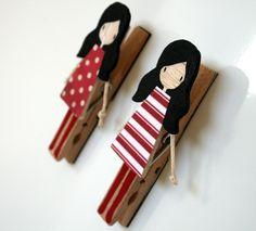 pins on the fridge