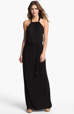 Caslon® Halter Knit Maxi Dress available at #Nordstrom