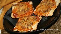 Mini pizzas de pan de molde