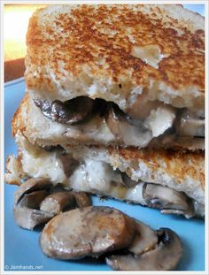 The Mushroom Melt- OMG! these are amazing! If you are a mushroom lover, you need to try it! the only thing i changed is i used pepper jack cheese and i went very light on the tyme
