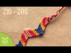 Pulsera de hilo: Zigzag // Friendship Bracelet - YouTube