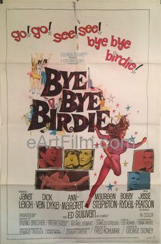 Reliable seller of real vintage original movie posters. One sheets from thousands of your favorite films from cinema around the world. Bye Bye Birdie, Original Movie Posters, Movie Poster Art, Maureen Stapleton, Mamie Van Doren, Gloria Dehaven, Cool Hand Luke, Janet Leigh, Ann Miller