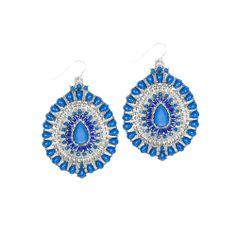 Robert Rose Teardrop Stone Earrings from LittleBlackBag.com  :: Blue:: Earrings:: Teardrop:: Stone