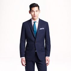 Ludlow Traveler Suit--made of a specially woven three-ply wool from Italy's renowned Lanificio di Tollegno mill. The yarns are highly twisted, giving them an elasticity that resists rumpling, creasing and the unsightly effects of flying coach