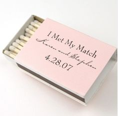match wedding favors/for sparklers